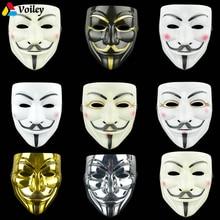 1 шт. 8 стилей маски для вечеринок V для вендетты маска для анонима Гая Фокса Необычные Аксессуары для костюма для взрослых маскарадные маски для Хэллоуина, Q