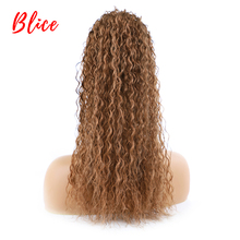 Blice Drawstring Ponytail Afro Kinky Curly Hairpiece With Two Plastic Combs Light Brown Synthetic Hair Extensions 18 Inch