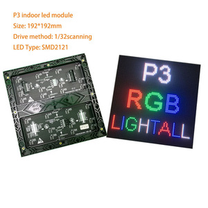 Image 5 - Hot sale P3 led module 64*64 pixels smd2121 indoor 192*192mm 32scan full color led matrix P4 P5 P6 P10 led sign board panel