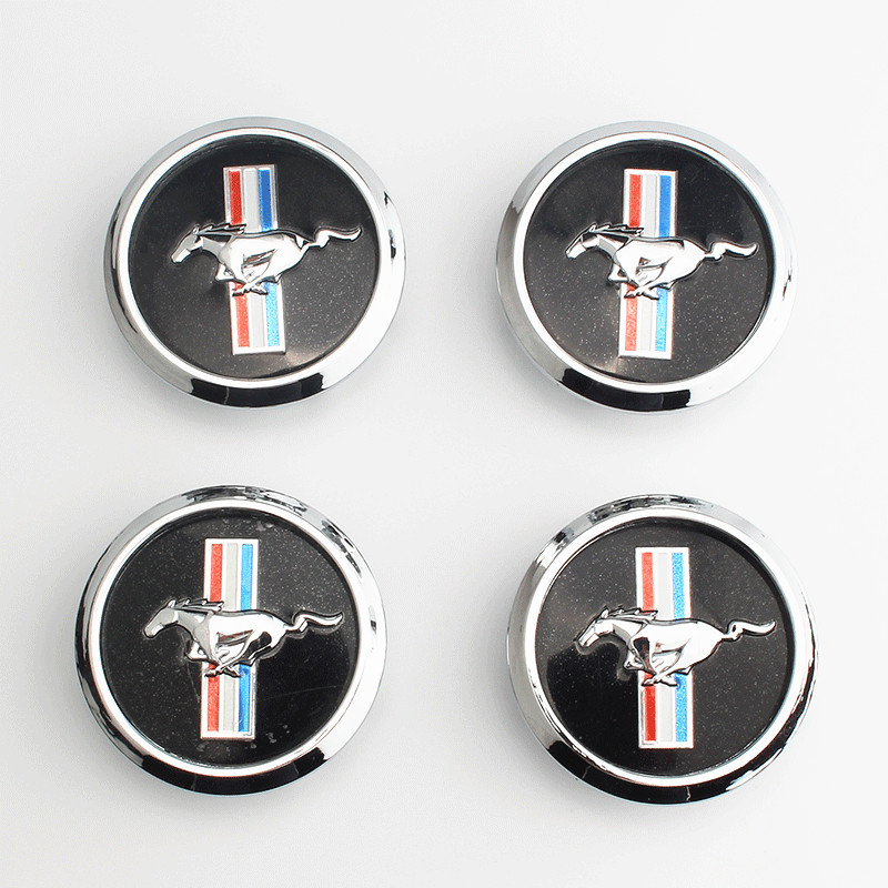 4 pcs lot 68MM ABS car emblem Wheel Center Hub Cap Rim badge decoration covers Auto Accessories For Ford mustang GT