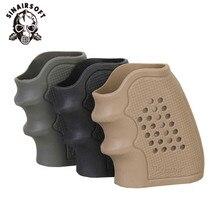 Manchon antidérapant pour la plupart des Glock 17 et 19,holster de poignée en caoutchouc, étui de gant pour pistolet tactique, accessoire de chasse, de magazine,