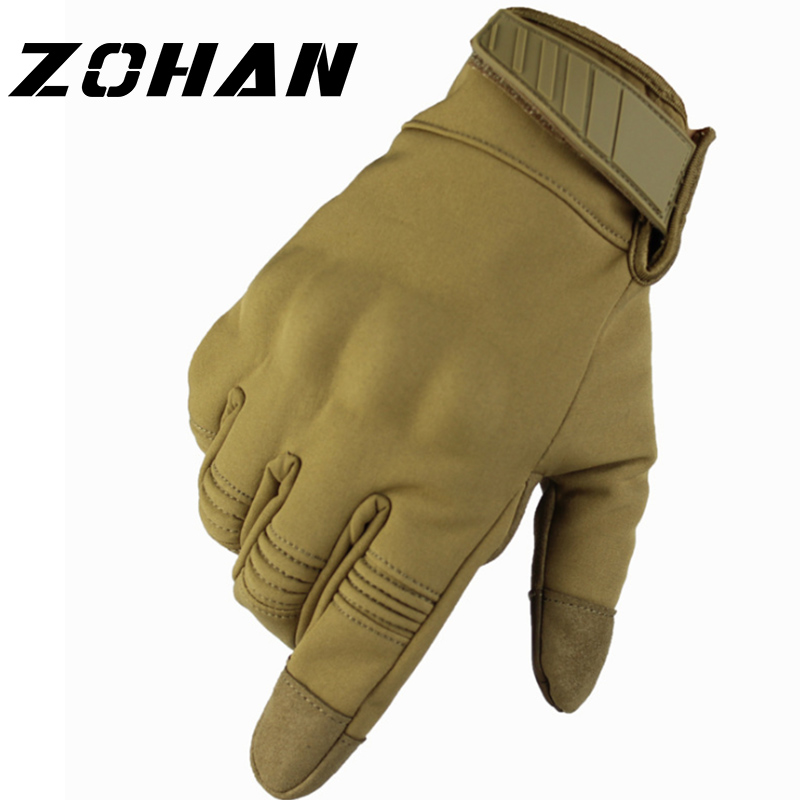 Tactical hunting gloves Full Men Brass Knuckles Touch Winter Military glove Shooting Bicycle Airsoft combat Gloves