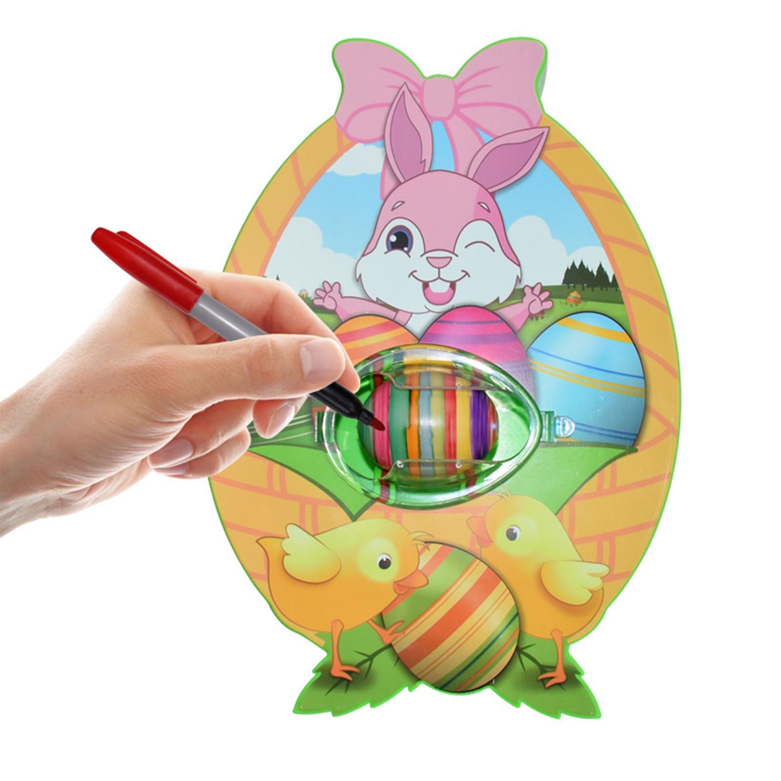 Набор для самостоятельного украшения пасхальных яиц, машинка-Спиннер для яиц с аксессуарами, детская игрушка для игр, идеальный подарок на ...