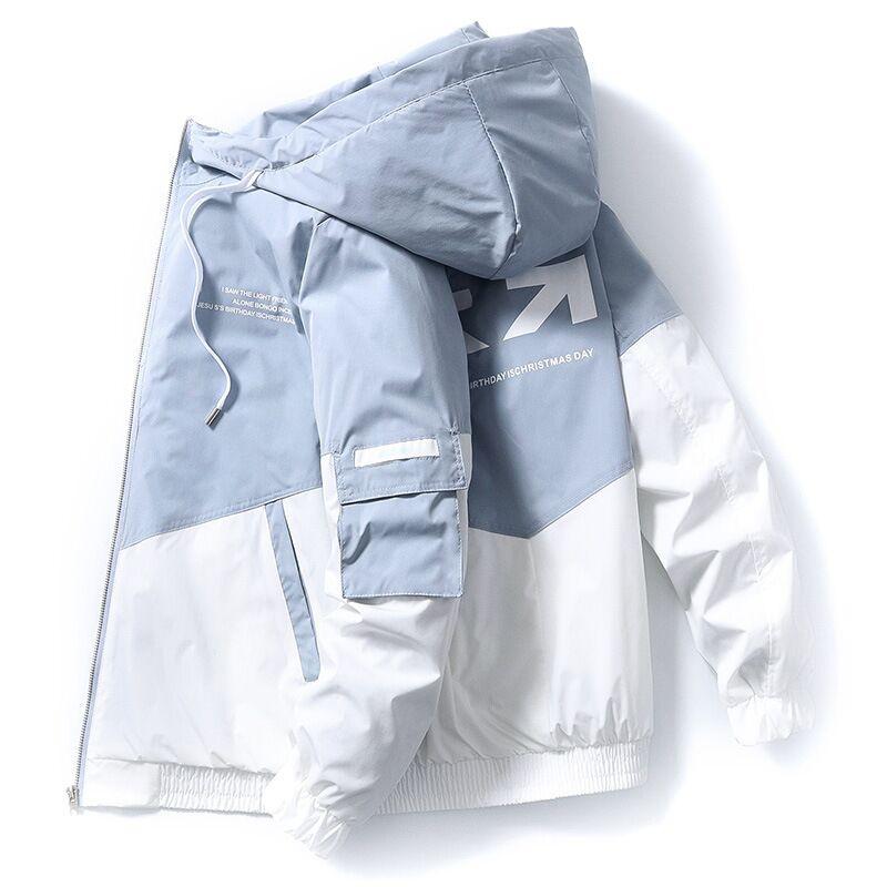 Street men's jacket zipper hooded jacket 2020 autumn and winter new Korean Slim Parker men's hooded fashion brand jacket3XL