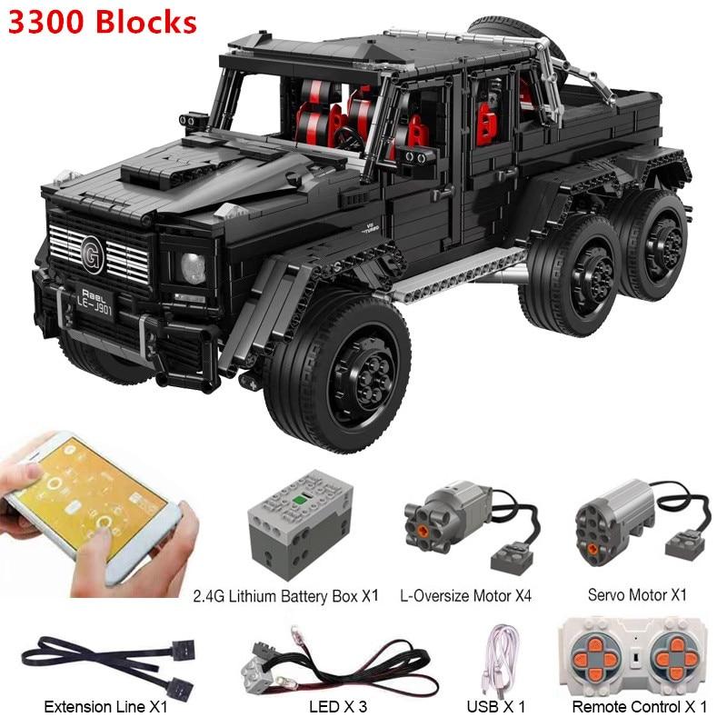 3300 blocs Puzzle assemblage blocs de construction voiture télécommandée 1:8 blocs de construction briques RC voiture jouets éducatifs pour les enfants