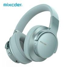 Mixcder E7 능동형 소음 차단 Bluetooth 헤드폰 5.0 25 시간 재생 시간 마이크 스테레오 무선 헤드폰으로 고속 충전