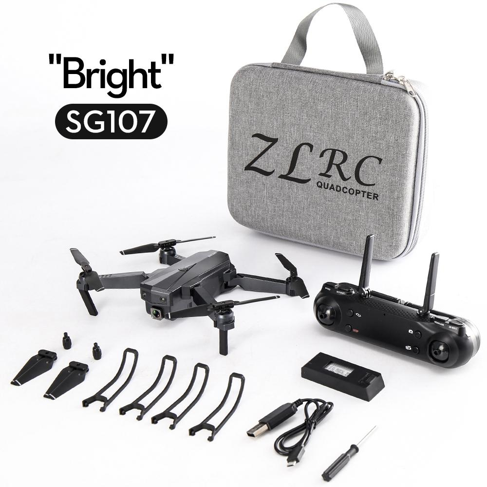RCtown Sg107 Folding Drone 4K HD Aerial Optical Flow Remote Control Plane Quadcopter Flying Across Mini Drone