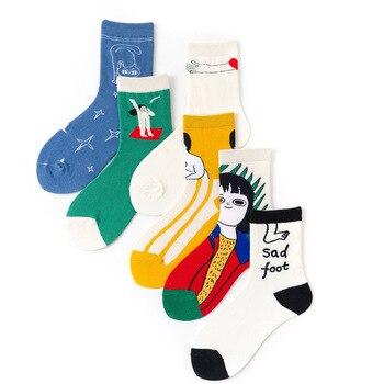 Kawaii Female Funny Socks Women Wtnter Korean Cute Soken Ins Cartoon Sock Girl Child Cotton Harajuku Casual - discount item  24% OFF Women's Socks & Hosiery