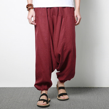 INCERUN Streetwear Harem Pants Men Hip-hop Drop Crotch Cotton Joggers Wide Leg Pants Trousers Men Chic Loose  Pantalones Hombre 12