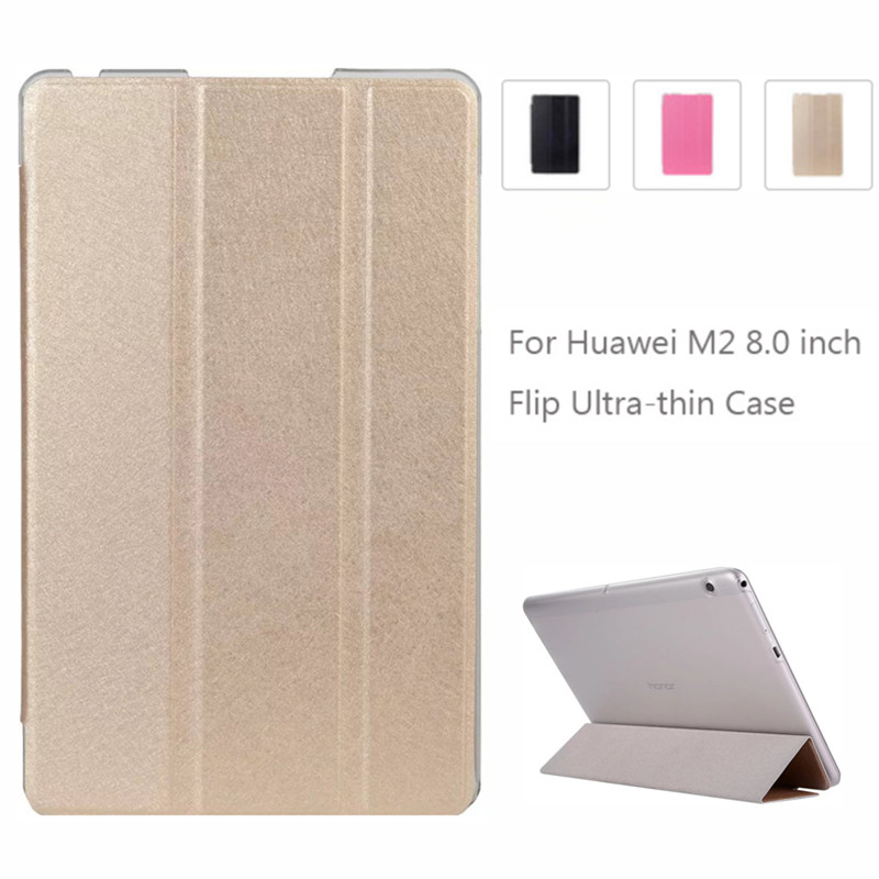 For M2 8.0 M2-801W 803L Capa For Huawei MediaPad M2 8.0 Inch Case Cover Ultra-thin PU Leather Folding Stand Back Fundas