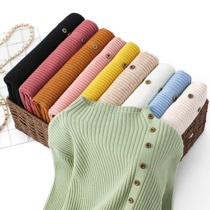 Turtleneck Solid Color Bottoming Sweater Women Fashion Simple Long Sleeve Slim Knit Sweater Pullover Female 2020 Spring Autumn