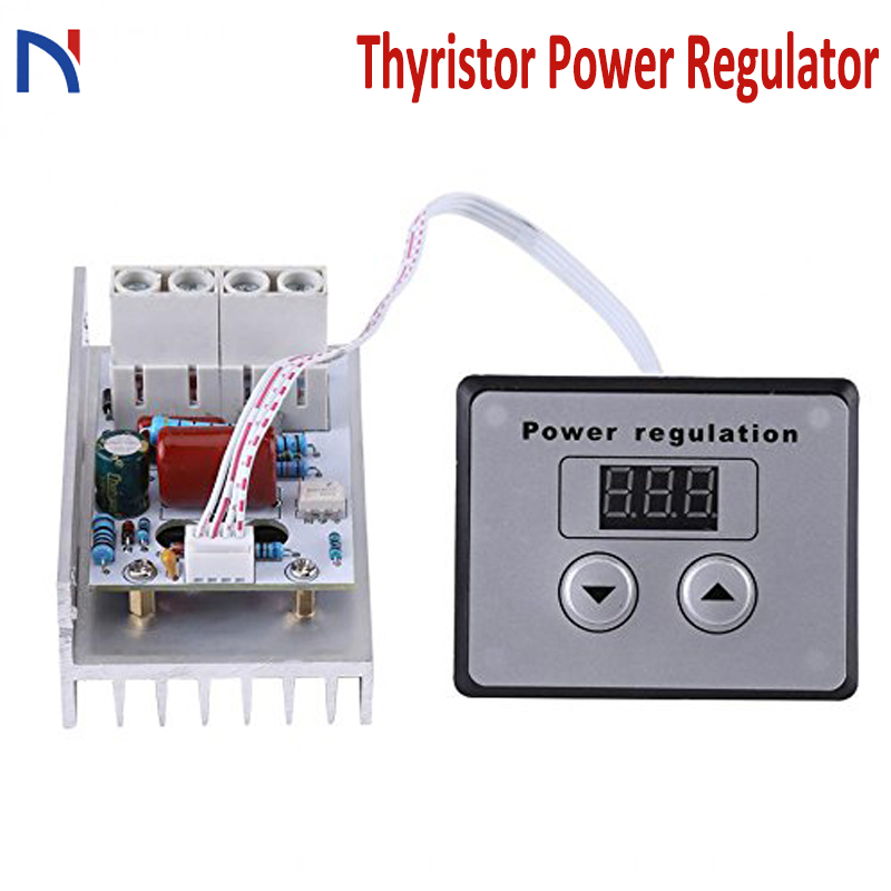 10000W Thyristor Power Regulator Super High Power Electronic Digital Regulator CNC Dimming Speed Voltage Regulator AC 220V