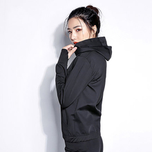 Women Fitness Hot Shirt Sauna Clothing Sweat Body Shaper Top Zipper Long Sleeve Weight Loss Boxing Gym Sportwear Workout Jacket heavy duty fitness weight loss sweat sauna suit exercise gym anti rip black