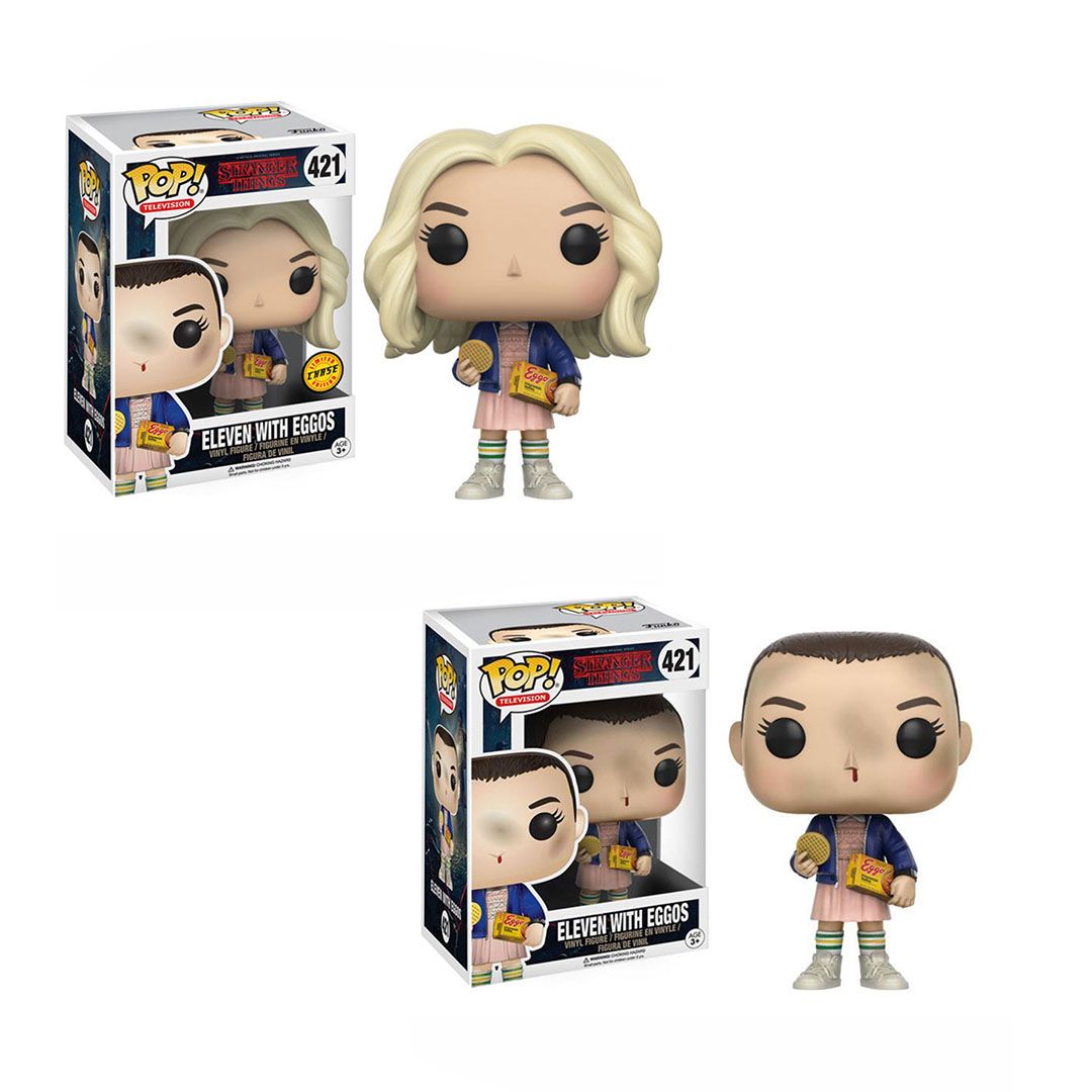 FUNKO POP  Stranger Things Vinyl Figure #421 ELEVEN WITH EGGOS 2 Style Collection Action Figure Model Vinyl Doll Toys