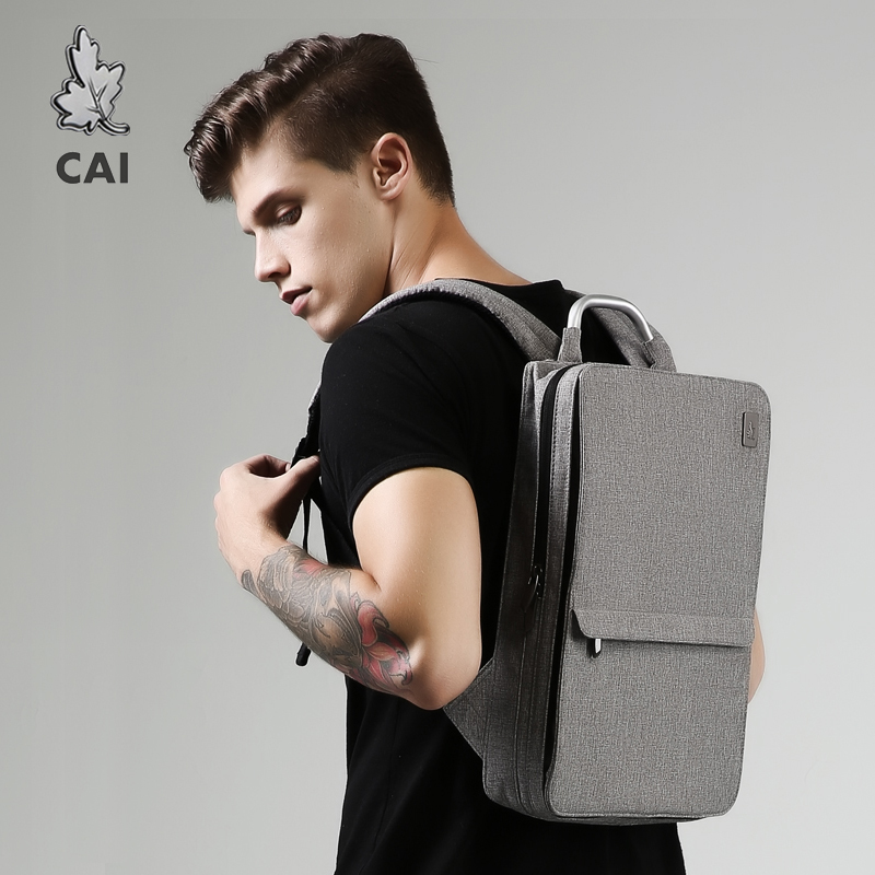 CAI Backpack 2019 Autumn Slim Bag Minimalism Laptop School Office Men/Women Business Travel Fashion Style Book Bags Waterproof