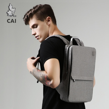 CAI Backpack 2019 Autumn Slim Bag Minimalism Laptop School Office Men/Women Business Travel Fashion Style Book Bags Waterproof
