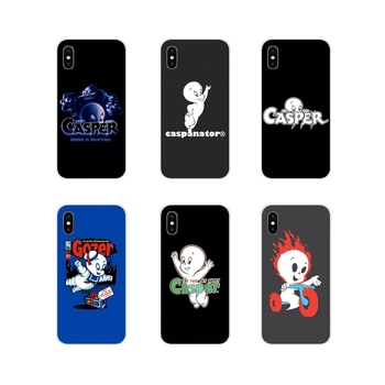 Transparent Soft Case Covers For Xiaomi Redmi 4A S2 Note 3 3S 4 4X 5 Plus 6 7 6A Pro Pocophone F1 for cartoon Casper and friends image