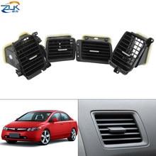 Zuk motorista do lado passageiro ac ar condicionado saída de ventilação para honda civic fa1 fd1 fd2 2006 2007 2008 2009 2010 2011 estilo do carro