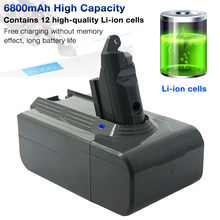 21.6V 6800mAh bateria litowo-jonowa dla Dyson V6 baterii DC59 DC58 DC61 DC62 DC72 DC74 SV03 SV04 SV06 SV09 gruby Expand Capacity