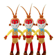 Cute monkey plush toy Chinese style cartoon character Sun Wukong soft fill doll childrens gift home decoration WJ232