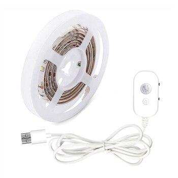 LED Under Cabinet light LED Strip led Lamp with Wireless PIR Motion Sensor USB Port lights Bed Side Closet Stairs Wardrobe Light