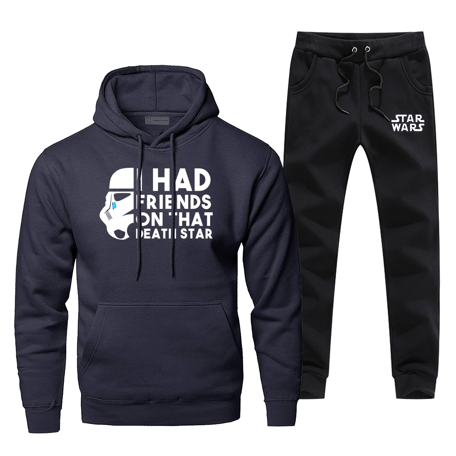 New Arrival Star Wars Funny Complete Man Tracksuit I Had Friends On That Death Star Brand 2 Piece Set Fashion Warm Men's Jogging