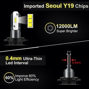 Image 2 - 2pcs Fanless H7 Car Headlight Bulb H1 H3 H4 Seoul Y19 Chips LED Lamp Bulbs H8 H9 H11 9006 HB4 9005 HB3 H27 880 881 Auto Led Lamp