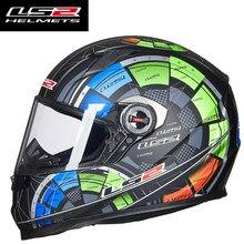 capacete ls2 ff358 Alex Barros rosto cheio capacete da motocicleta de corrida de motocross homem mulher ECE aprovado ls2 Originais Multi-cor do sol viseira