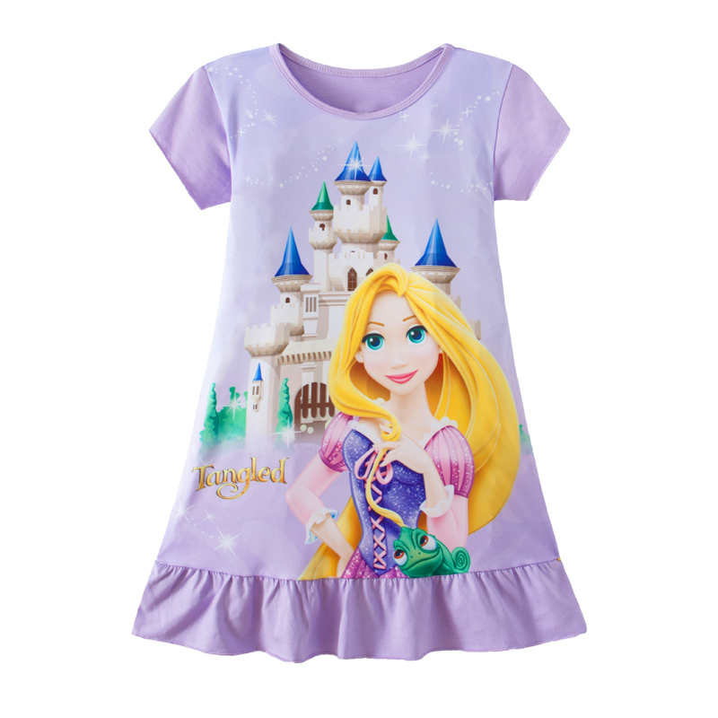 2019 New Children Rapunzel Mermaid Anna Pajamas Dresses Girls Baby Pajamas Cotton Princess Nightgown Home Clothes Girl Sleepwear