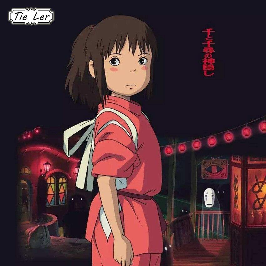 TIE LER Hayao Miyazaki Anime Movie Poster Home Decor Wall Sticker Kraft Paper Poster Cafe Bar Poster Retro Wall Sticker