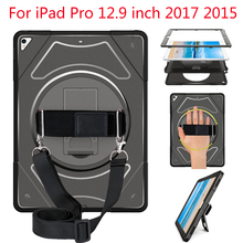 Shockproof Case for iPad Pro 12.9 inch 2017 2015 Tablet Cover Rotating Kickstand