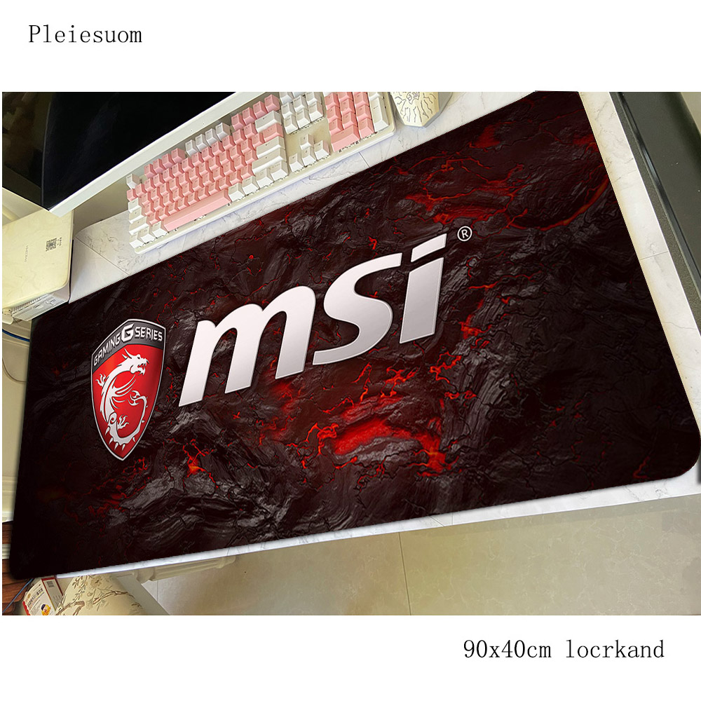msi mousepad Boy Gift gaming mouse pad 90x40cm pc computer gamer accessories large mat Kawaii laptop desk protector pads(China)