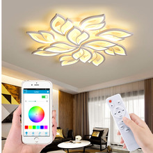 Modern LED chandelier APP remote control function living room bedroom LED ceiling lamp acrylic suction chandelier factory sales