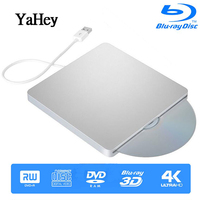 USB 3.0 Slot Load External Bluray Drive Apple DVD RW Burner Writer 3D Blue ray Combo BD ROM Player for Macbook Pro iMac Laptop