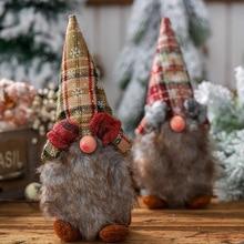 Xmas New Year Decoration Ornament Christmas items Swedish Gnome Santa Claus Figurine Nordic Plush Dwarf Doll Gift Toys