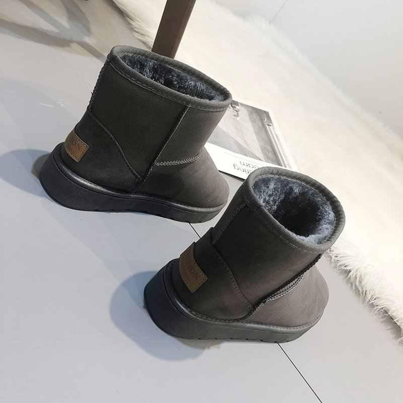 Yeni en kaliteli klasik akın kadın kar botları yarım çizmeler sıcak tutmak kış platformu çizmeler kadın ayakkabı Bota Feminina