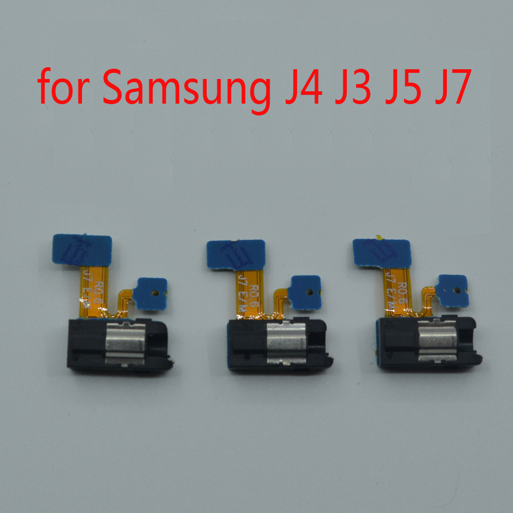 Earphone Jack Microphone Mic For Samsung J3 J5 J7 Pro 2017 J330 J530 J730 J4 2018 J400 Phone New Headphone Audio Jack Flex Cable