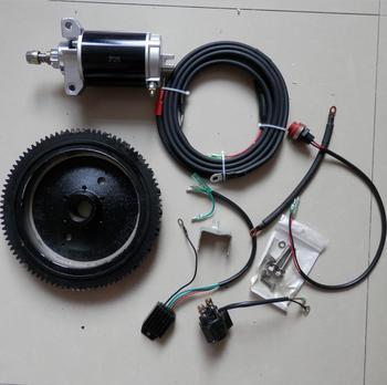 F25 eléctrico KIT de Inicio para YAMAHA F20 F30 PARSUN 25HP 4T 20 ~ 30HP fuera de borda FLTWHEEL MOTOR de arranque interruptor de CABLE de carga de la bobina
