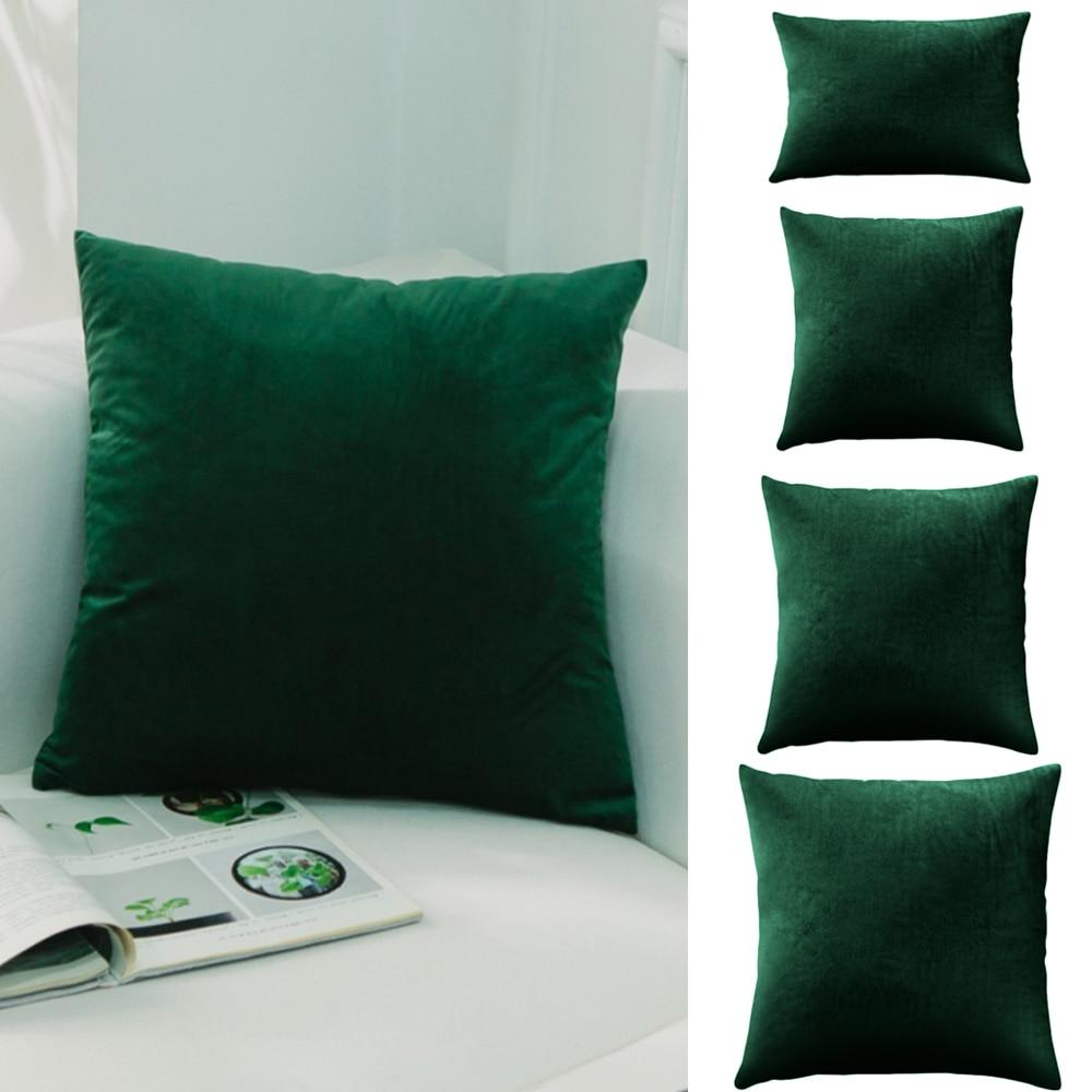 1pc velvet cushion cover pillow cover pillow case green yellow pink gray white black home decorative sofa throw pillows