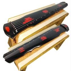 SevenAngel chino Fuxi Guqin 7 cuerdas cinabrio color viejo Paulownia antigua Zither para la práctica principiante Guqin 100% hecho a mano
