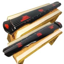 Sevenangel Cinese Fuxi Guqin 7 Corde Cinabro Colore Vecchio Paulownia Antico Cetra per Principianti Pratica Guqin 100% Fatti a Mano