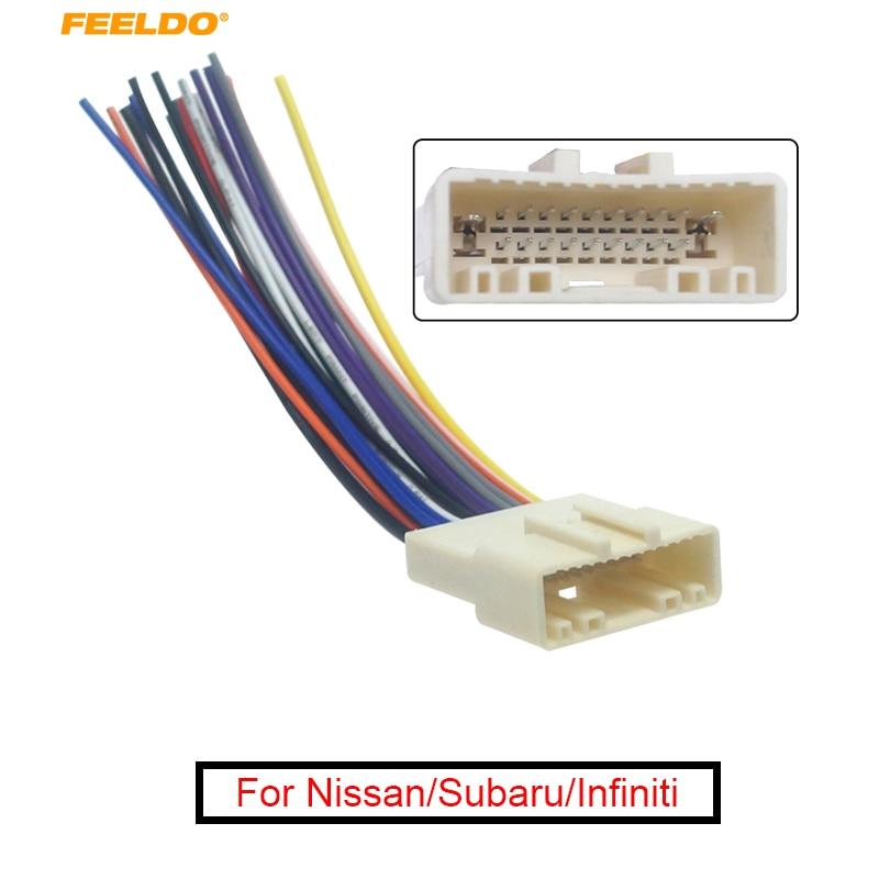 nissan 370z stereo wiring feeldo 1pc car cd audio stereo wiring harness adapter for nissan  cd audio stereo wiring harness adapter