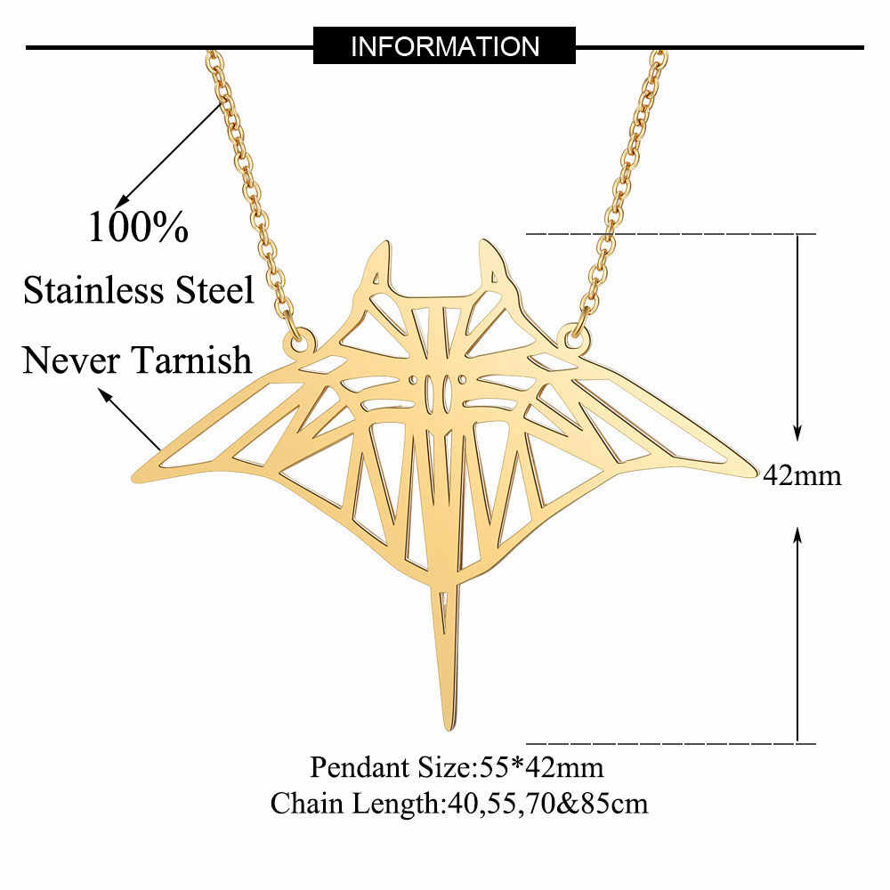 Unique Manta Ray Fish Necklace LaVixMia Italy Design 100% Stainless Steel Necklaces for Women Super Fashion Jewelry Special Gift
