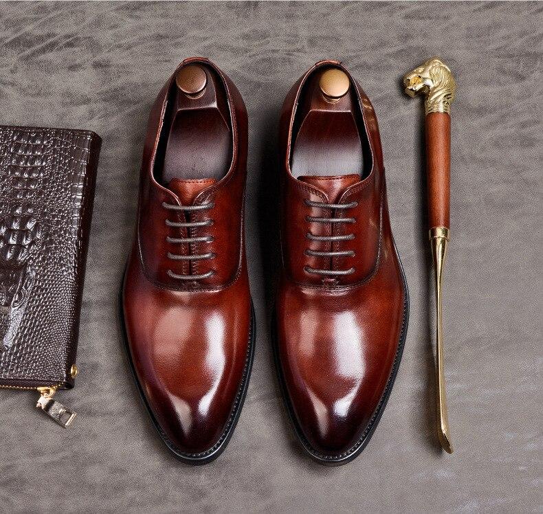 › Sapato formal masculino de couro legítimo,