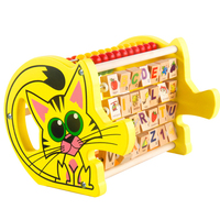 Children Wooden Montessori Toys Animal Cat Multi Functional Learning Educational Abacus Toy Colorful Count Bead Kids Math ToysCh