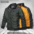 Куртка в стиле милитари для мужчин 2021 Мода Стенд воротник Мужская куртка-бомбер пилотные мужские армейские куртки и пальто Cargo пиджаки в руб...
