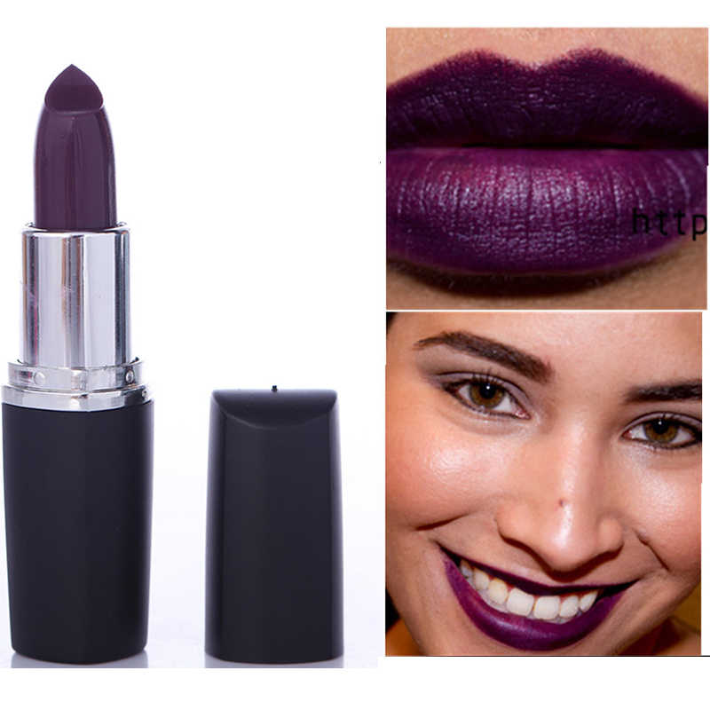 Lipstik Halloween Lip Gloss Merah Hitam Tahan Lama Non-Stick untuk Piala Makeup Kecantikan Matte Seksi menawan Ungu Vampir