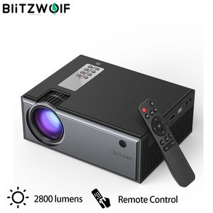 Blitzwolf BW-VP1 LCD Projector 2800 Lumens Support 1080P Input Multiple Ports Portable Smart Home Theater With Remote Control(China)