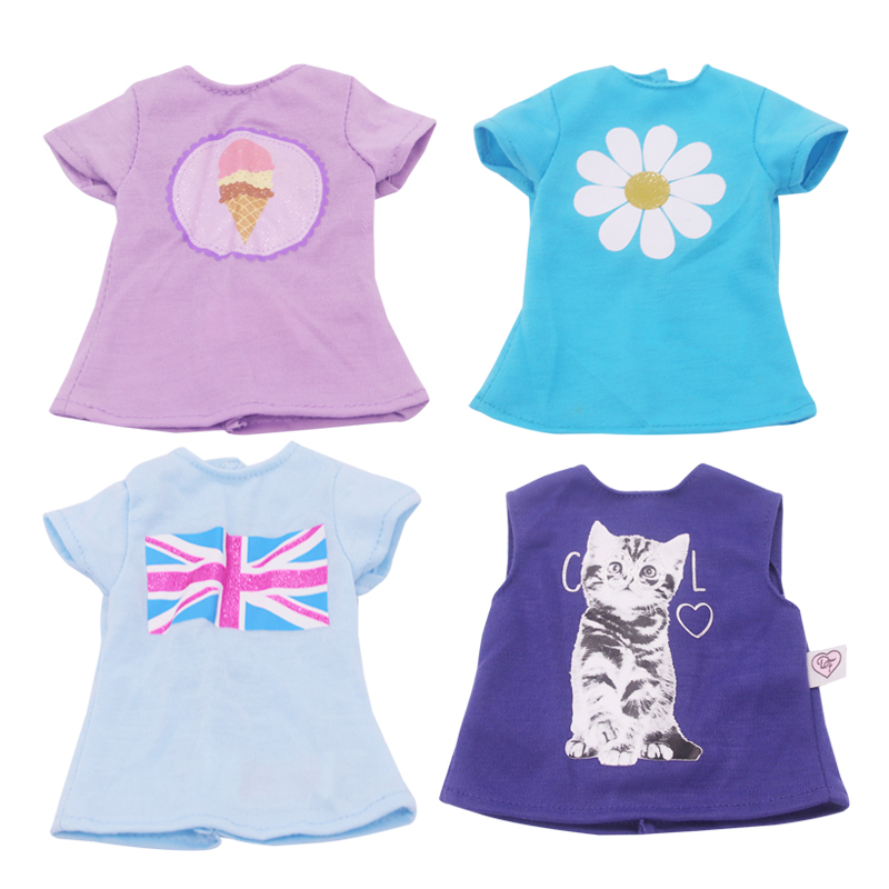 Doll Talk Fashion Doll Clothes Personality T-shirt Clothing Outfit For 18