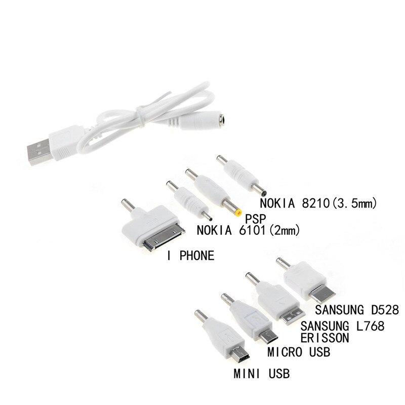 1 комплект USB до 8 шт. DC разъем питания зарядное устройство адаптер кабель для мобильного использования белый комплект P20 горячая распродажа